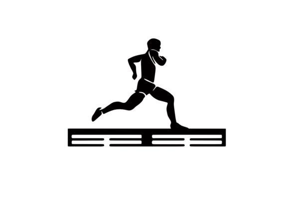 Медальница спортивная бег