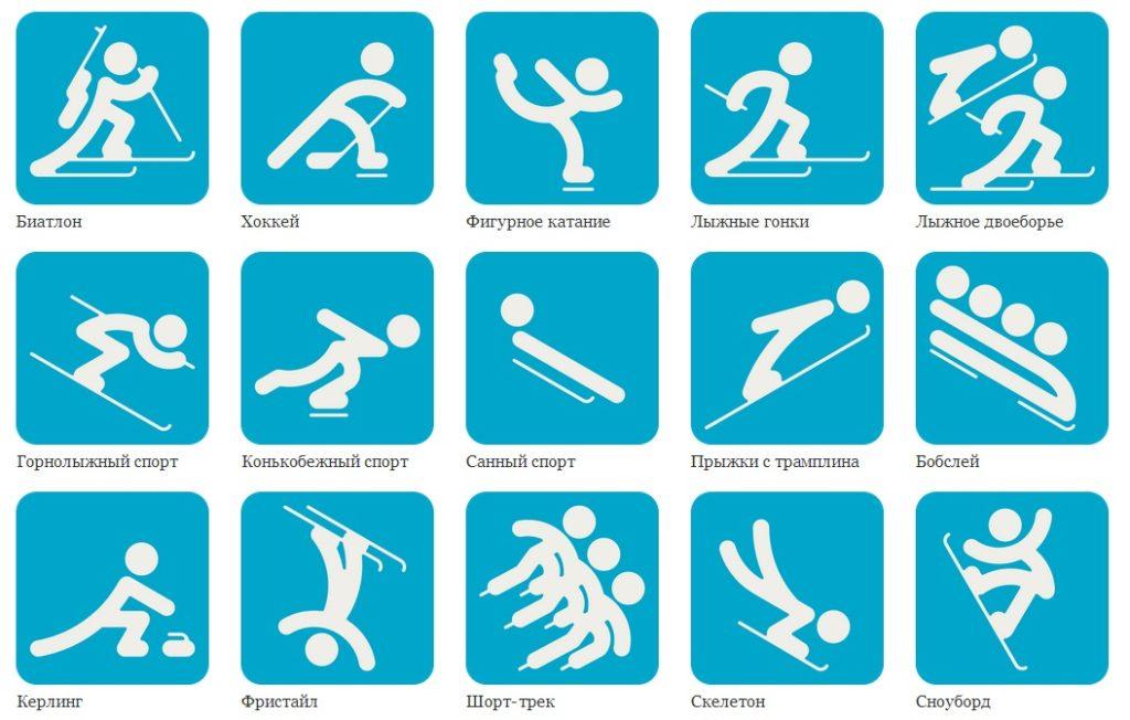 спортивные картинки по видам спорта для